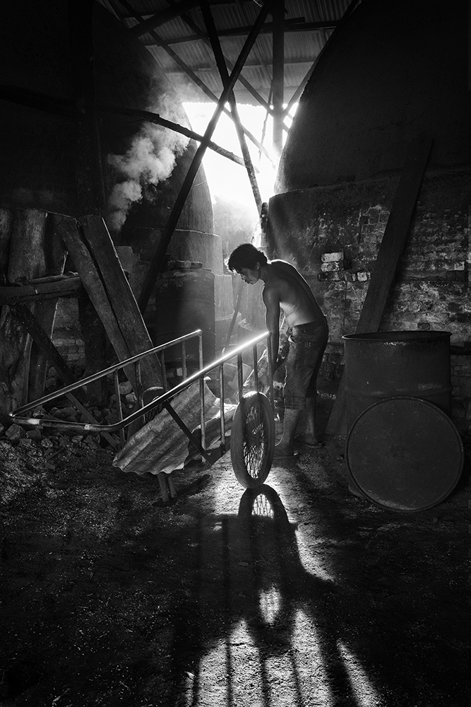 Daily Works at Charcoal Factory