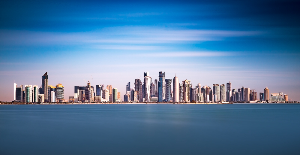Doha Skyline in Color