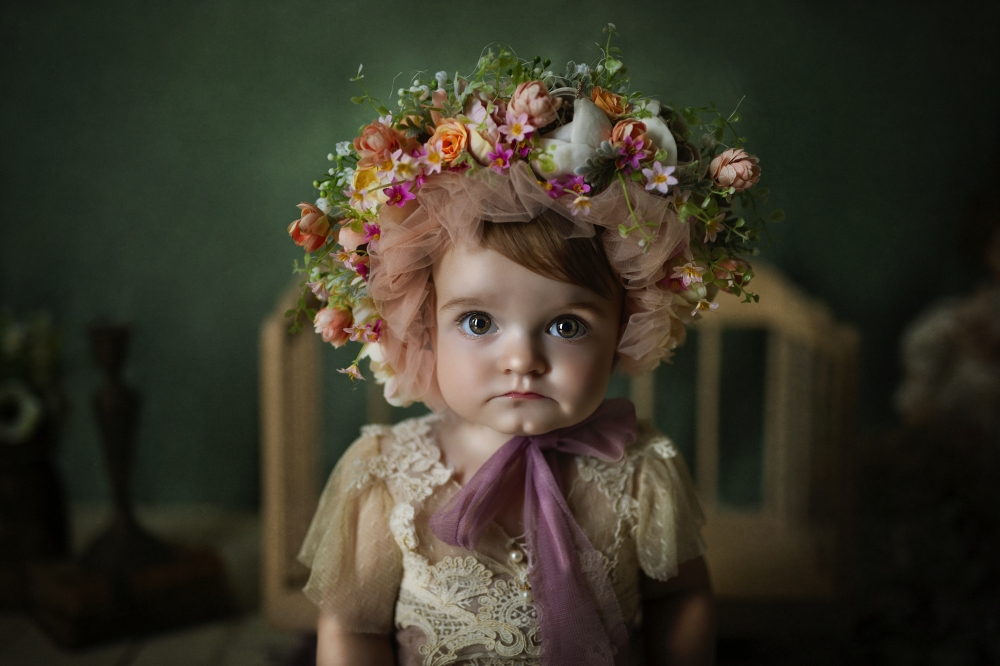Girl With A Flower Bonnet