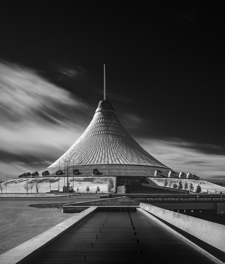 Invisible lights of Astana