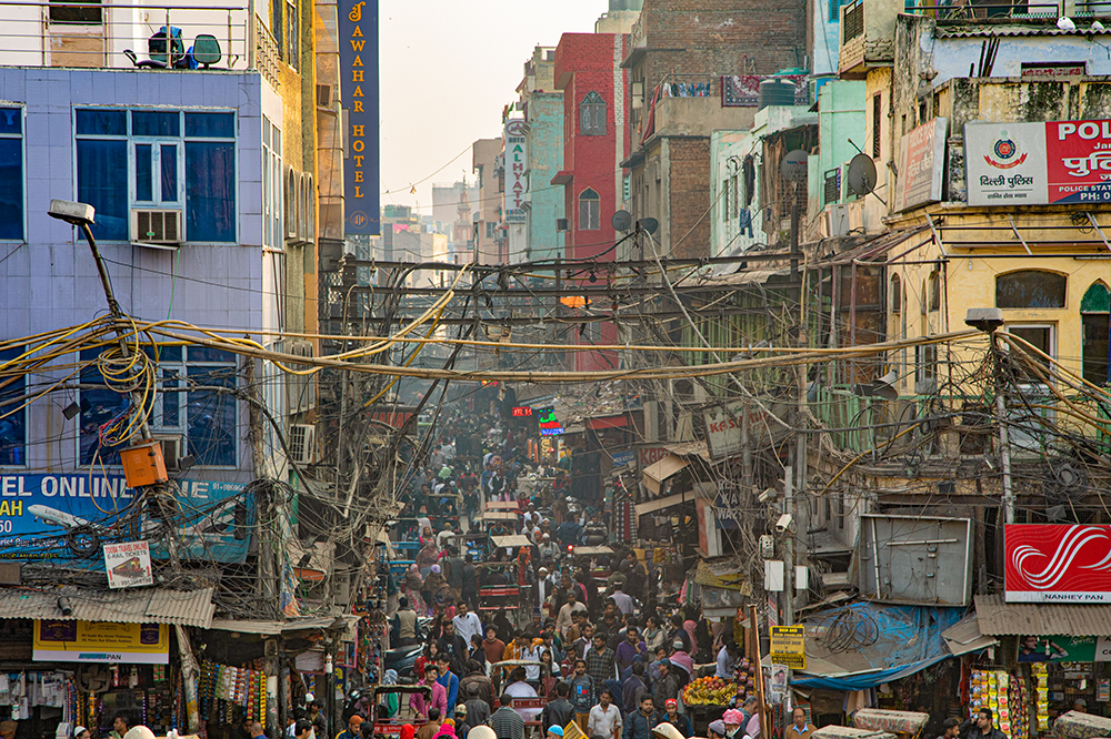 Amidst the Bustle in Old Delhi