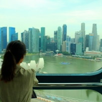 Girl Gazing at Cityscape
