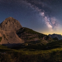 Milky Way over Mangart Saddle