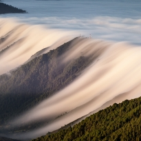 Clouds waterfall