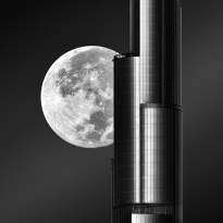 Super Moon Behind Burj khalifa