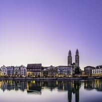 Zurich in the early morning.