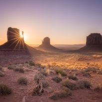 Complete day in Monument Valley