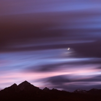 Moon above the Nockspitze / Saile (2404 m) in Tirol