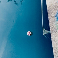 floating ball in a river