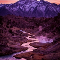Purple Sunset in the Eastern Sierras