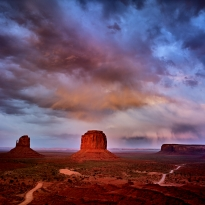 Storm over Monument Valley