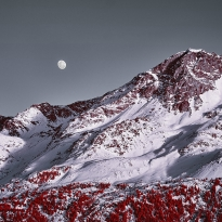 Moon and Piz Rosatsch