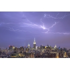 Lightning about Manhattan