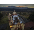 CHRISTIAN CHURCHES WITH COLLAPSED DOMES DURING MEXICO´S 19-SEPT-17 EARTHQUAKE, AROUND THE VOLCANO POPOCATEPETL  (Craters of Don Goyo´s Ecclesiastic Belt)